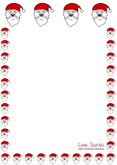 Love Santa letter template - Santa's Face