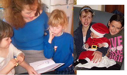 Tash and family reading Love Santa letters