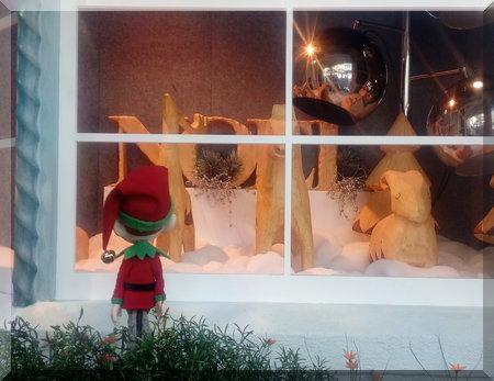 elf peering in a window
