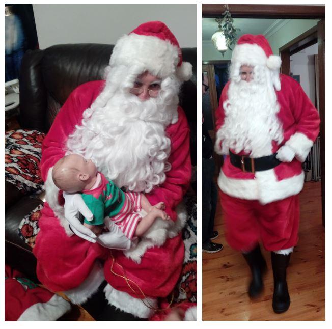 photos of Santa at a party