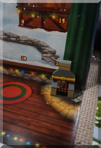 Lego fireplace for day 3 of advent calendar