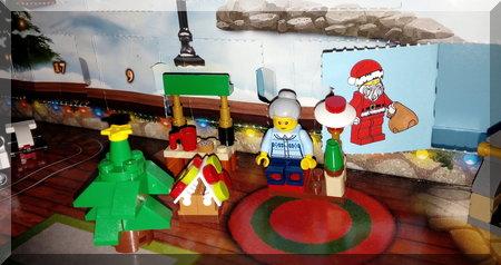 Lego advent calendar Santa flap