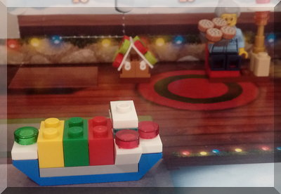 Lego boat from City advent calendar
