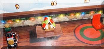 gingerbread house from Lego City advent calendar