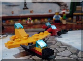 yellow Lego plane