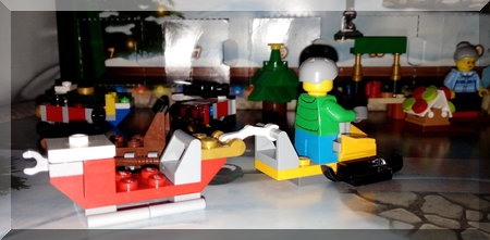 Lego City Snata sleigh