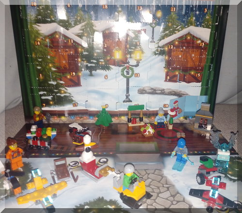 2017 Lego City advent calendar completed
