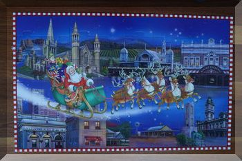 completed Santa is coming to Victoria puzzle