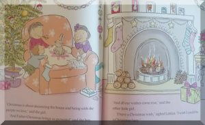 inside pages of Lettice Christmas Wish story book