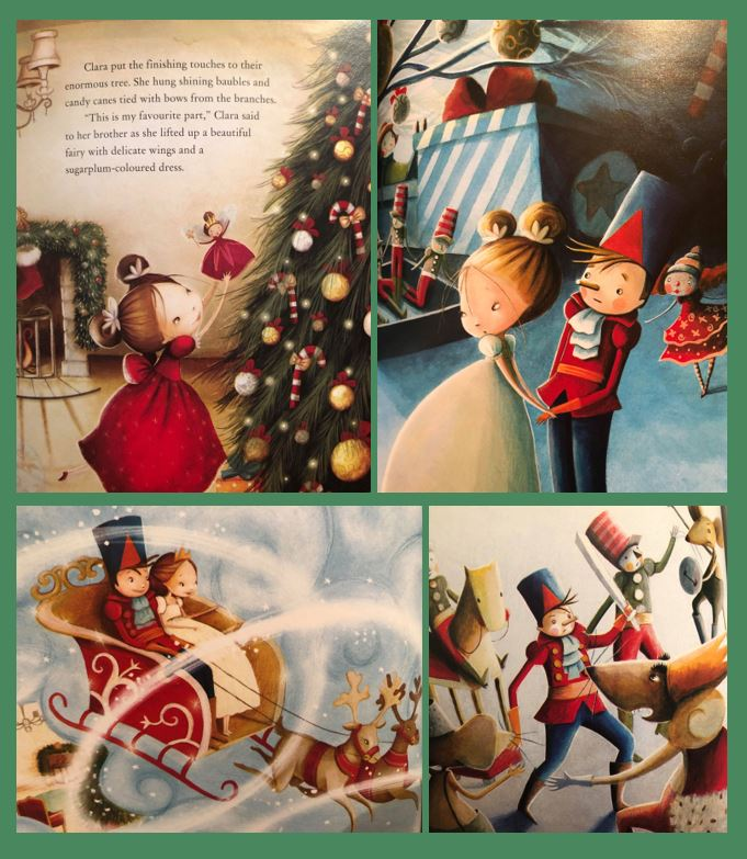 collection of pages from The Nutcracker book