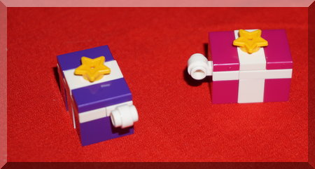 to Lego presents with stars on top