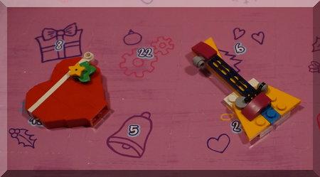 Lego guitar and heart on an advent calendar