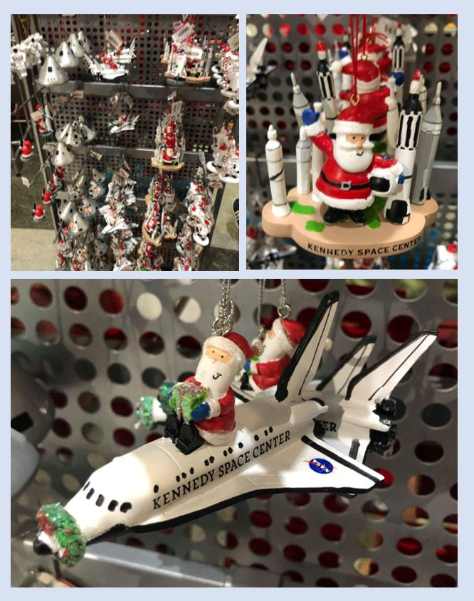 Display of Christmas ornaments at Kennedy Space Centre