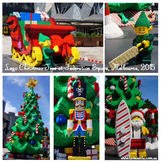 Lego Chirstmas display in Melbourne, 2015