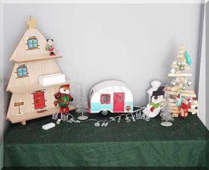 elf house and Christmas tree