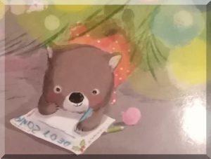 koala writing a letter to Santa illustration