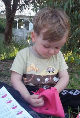 boy opening love santa letter