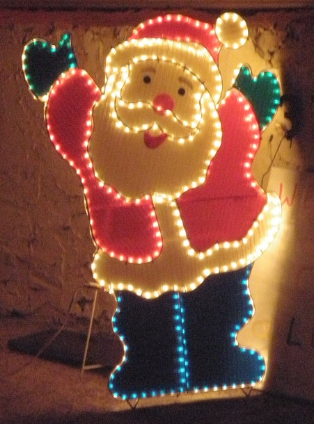 Santa and christmas lights in Ashwood, Melbourne