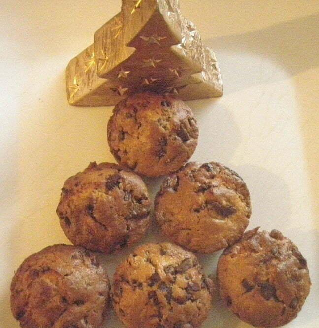 Christmas fruit muffins for Santa
