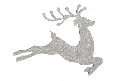 Santa's reindeer leaping with joy