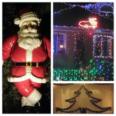 Christmas lights collage Ivanhoe 2012