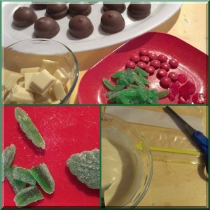 ingredients and equipment to prepare Christmas royal puddings