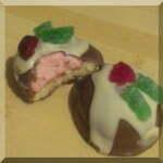 Pink centred Royal Christmas puddings