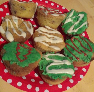 Decorated double Christmas treats