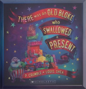 Book cover of 'There was an old bloke who swallowed a present'