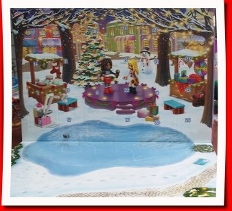 Lego Friends advent calendar scene and count down boxes