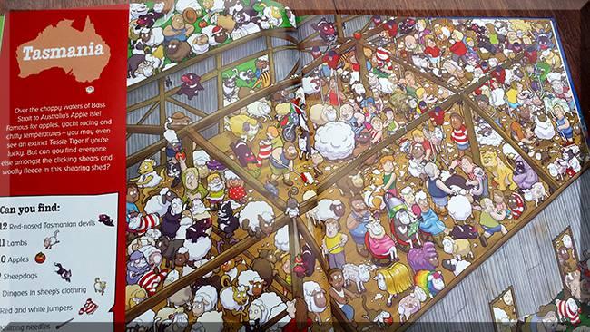 Sample page from 'Where's Santa? in Australia'