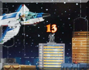 Lego city advent calendar flap for day 13