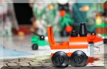 Lego train from advent calendar