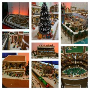 Collage of gingerbread village 2015
