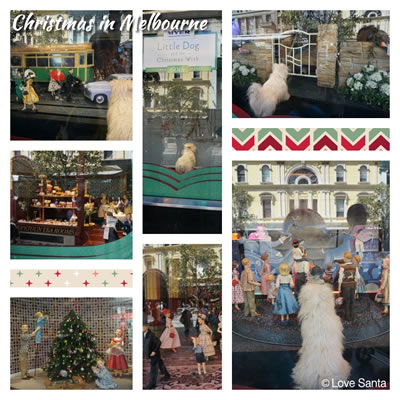 Collage of Myer windows, Christmas 2015