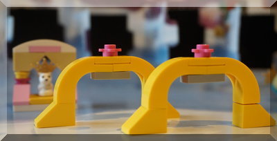 Yellow arches from Lego Friends