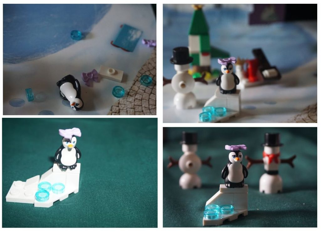 Lego Friends advent calendar penguin collage