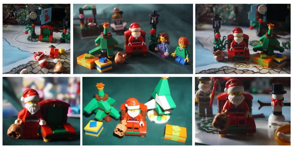 Lego City advent calendar Santa collage