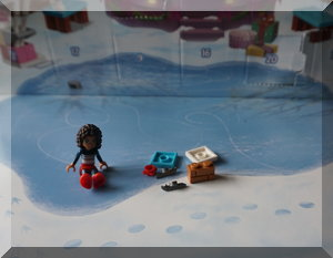 Lego Friends pieces from day two of advent calendar