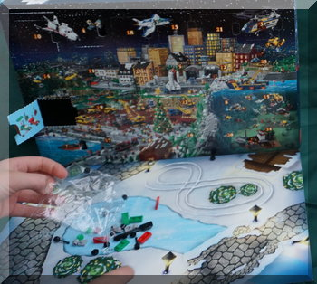 Lego City advent calendar - day one pieces