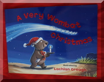 "Book cover of ""A very wombat Christmas"""