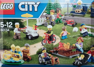 the box of a new Lego set which has a wheelchair and a baby.