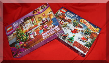 2016 Lego Friends & City advent calendar boxes