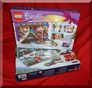 Back of lego Friends & City advent calendars for 2016