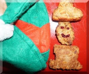 Santa shaped biscuits