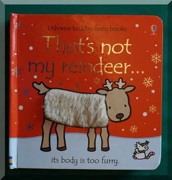 """cover image of """"That's not my reindeer"""" board book"""