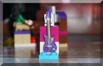 A purple Lego guitar