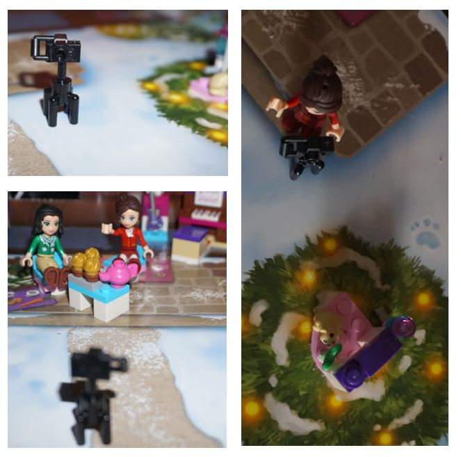 Collage of Lego camera photos