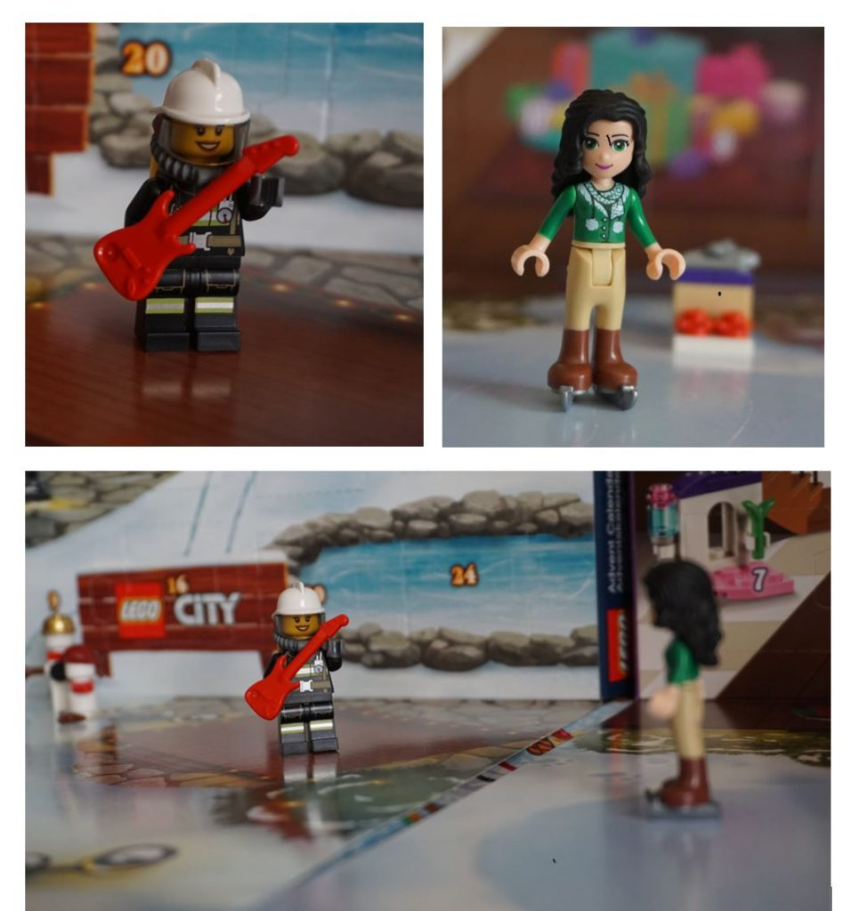 Lego advent calendar day two - firefighter with guiatr and ice skates