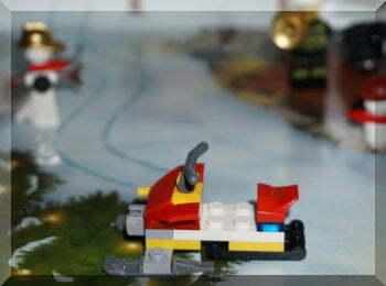 Lego motorised sled
